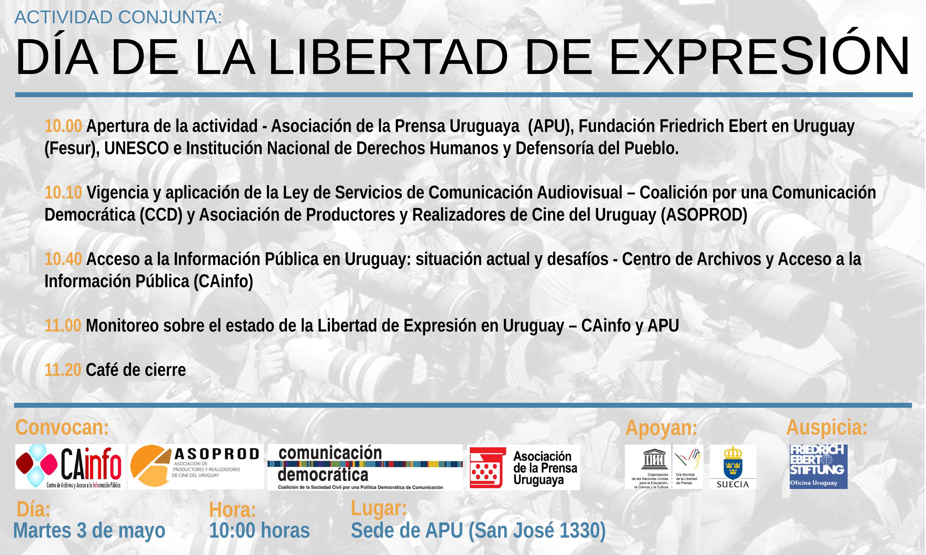 Libertad de Expresión Programa 3 de Mayo